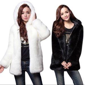 Jackets & Blazers - ✔️1 DAY SALE - WHITE & BLACK FAUX FUR!